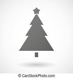 háttér, ikon, white christmas fa