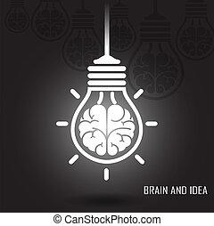 háttér, kreatív, agyonüt, sötét, gondolat, fogalom