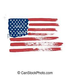 háttér., lobogó, amerika, fehér