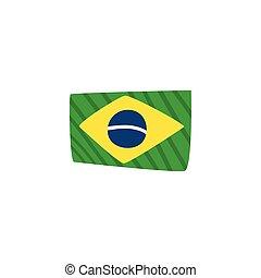 háttér, lobogó, brazília, fehér