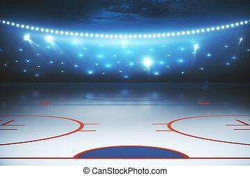 háttér, mező hockey, megvilágít