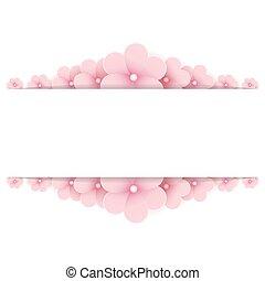 háttér, rózsaszínű, virágos