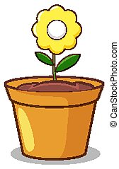 háttér, sárga virág, fehér