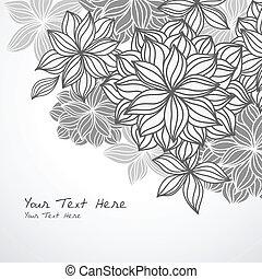 háttér, sarok floral