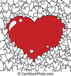 háttér, szív, valentin nap