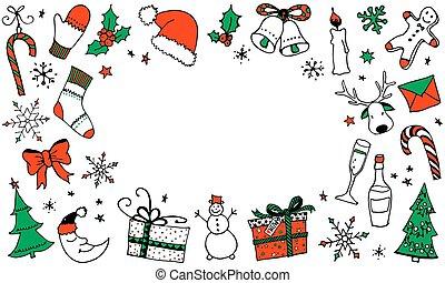háttér, szöveg, karikatúra, karácsony, állás, -e