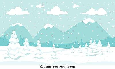 háttér, tél, hóesés