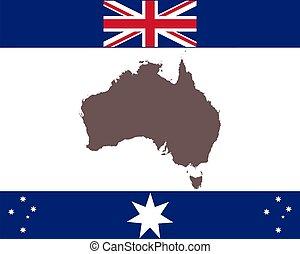 háttér, térkép, australia lobogó
