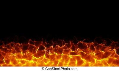 háttér, tüzes