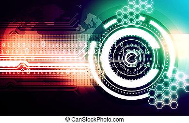 háttér, technológia, elvont
