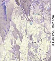 háttér, textured, művészet, vízfestmény, dzsungel, lombozat
