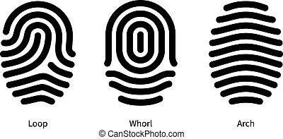 háttér., ujjlenyomat, fehér, írógépen ír, azonosítás