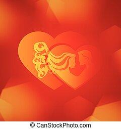háttér., valentine's, vagy, nap, esküvő