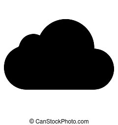 háttér., vektor, fekete, white felhő, ikon