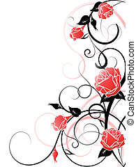 háttér, vektor, rózsa