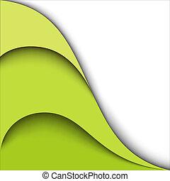 háttér., vektor, tervezés, zöld