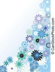 háttér, virágos