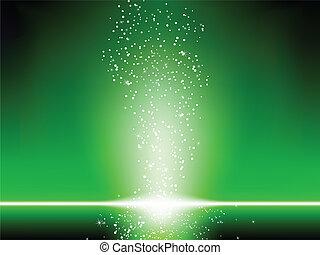 háttér., zöld, csillaggal díszít