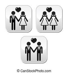 házas, hetero, esküvő, buzi