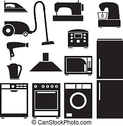 háztartás, állhatatos, eszköz