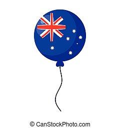 hélium, lobogó, ausztrália, fehér, balloon, háttér
