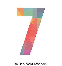 hét, szám, színes