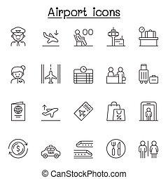 híg, állhatatos, ikon, mód, egyenes, repülőtér