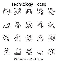 híg, állhatatos, ikon, technológia, mód, egyenes