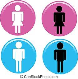 hím, női, cégtábla