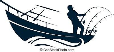 hímvessző, halász, halászhajó