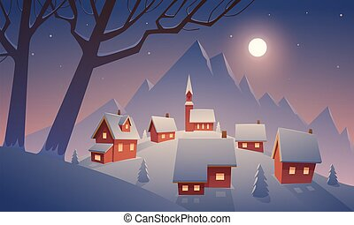 hó, falu