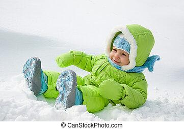 hó, gyermek