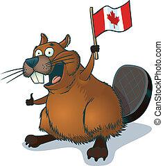 hódprém, lobogó, kanadai