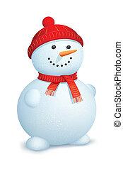 hóember, fárasztó, sál