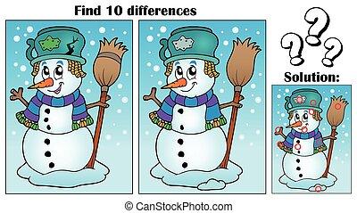 hóember, téma, különbségek, talál