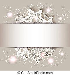 hópehely, csillag, karácsonyi üdvözlőlap, köszönés