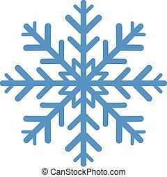 hópehely, fehér, elszigetelt, tél