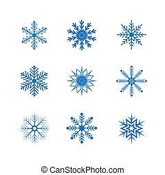 hópihe, fehér, elszigetelt, állhatatos, vektor