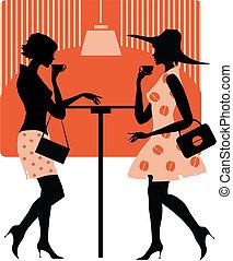 hölgyek, kávéház