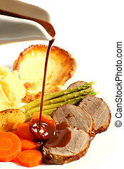 húslé, sült izomzat