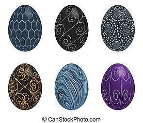 húsvét, háttér, fehér, állhatatos, tojás, elszigetelt