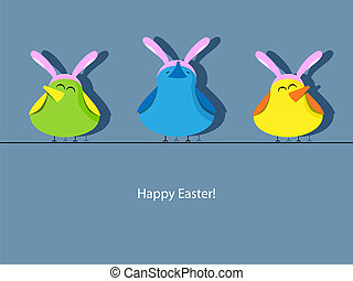 húsvét, köszönés kártya