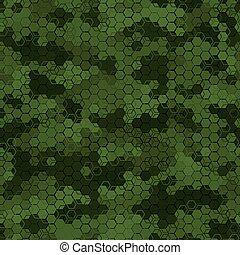 hadi, álcáz, seamless, struktúra, vektor, hadsereg, pattern., elvont, ábra