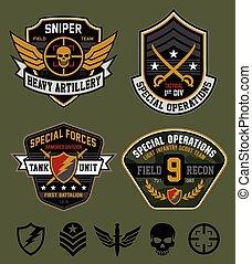 hadi, hadműveleti, állhatatos, különleges, folt