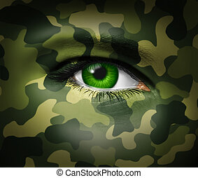 hadi, szem, álcáz