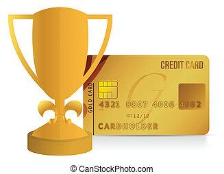 hadizsákmány, hitelkártya, ábra, csésze