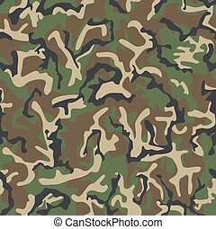 hadsereg, pattern., seamless, álcáz, klasszikus