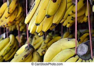 hagyományos, friss gyümölcs, piac