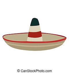 hagyományos, kalap, elszigetelt