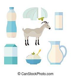 hagyományos, termékek, állhatatos, tejcsarnok, megfej